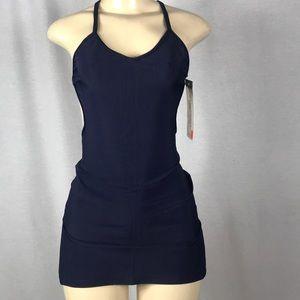 Zuliana dark blue halter dress